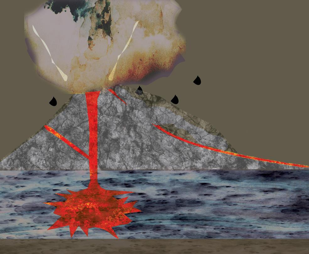 volcano illustration design by remey