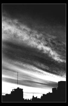 Sunset On Grey Scale