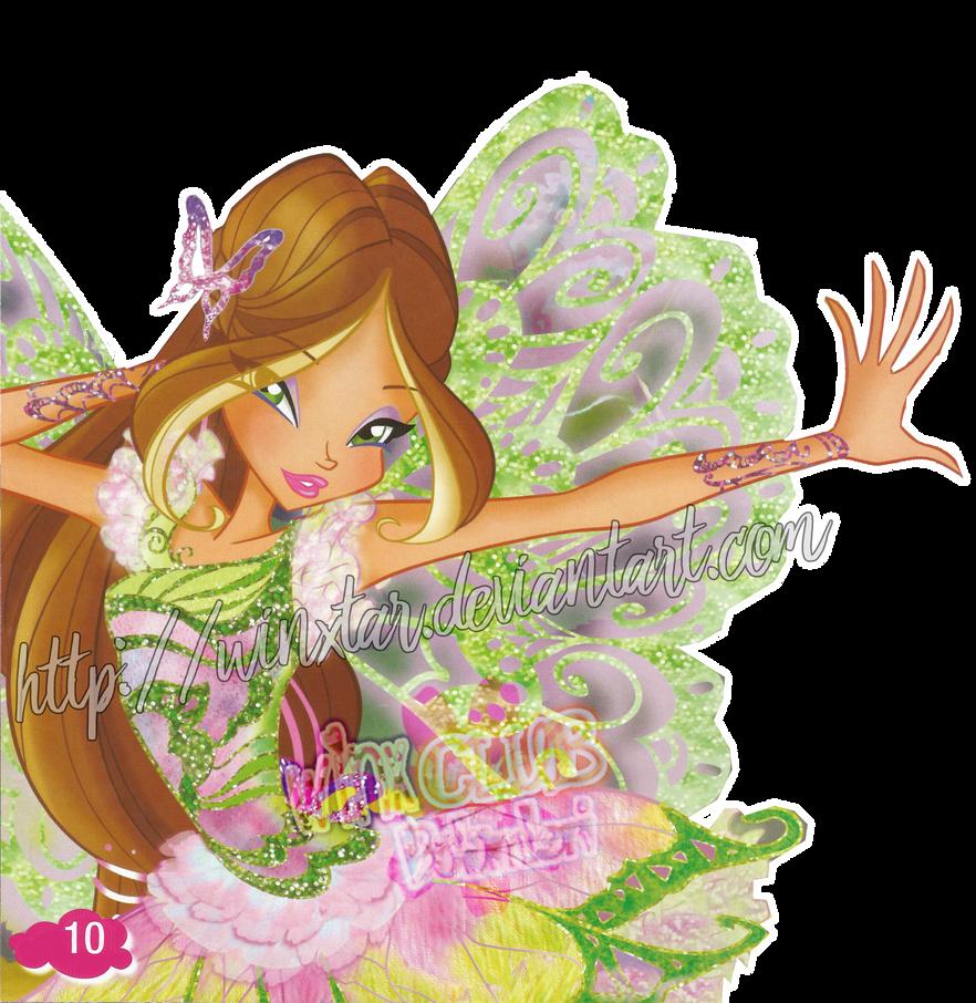 exclusive winx club flora 2d butterflix by winxtar on