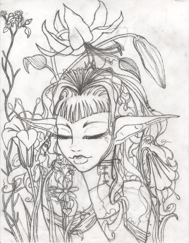 Flower Garden - Sketch By Defekte-Traume On DeviantART