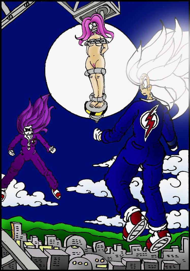 mega sonic girl squares off by jdc comics online on deviantart