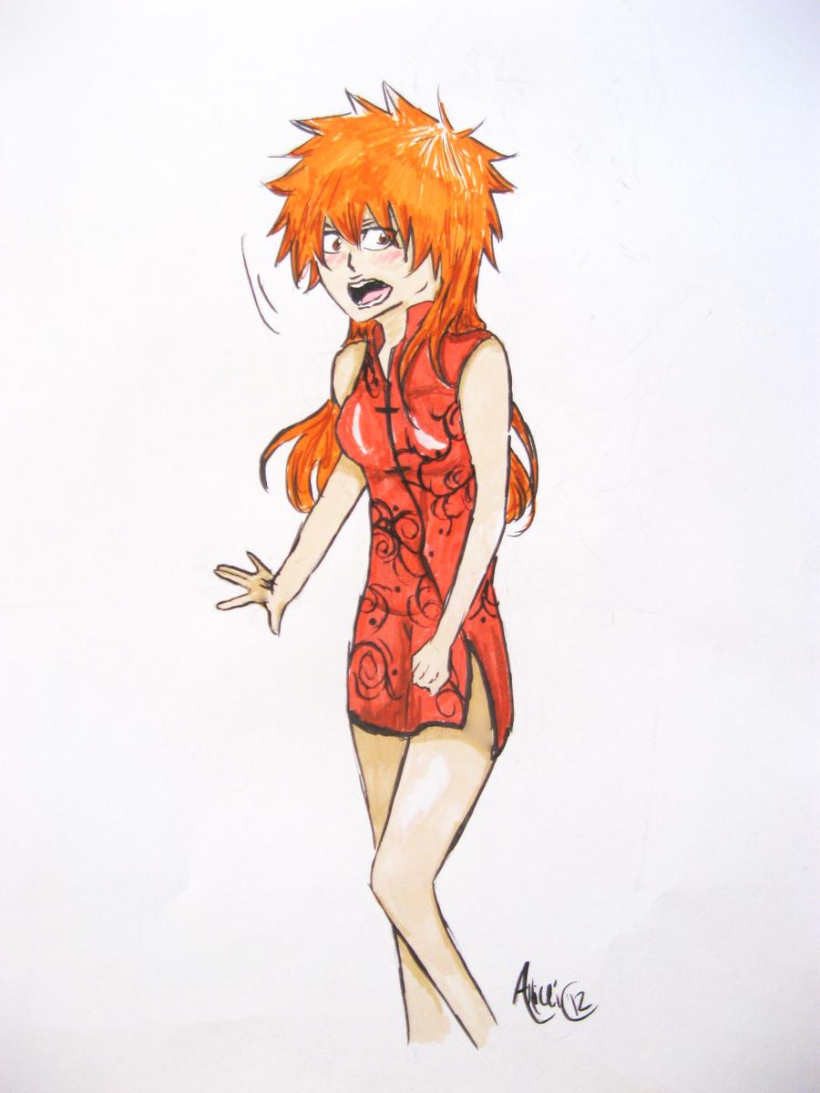 Fem!Ichigo by Allicei