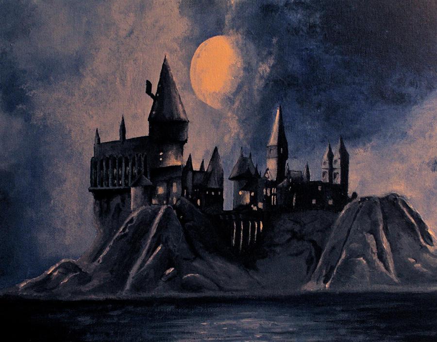 Harry Potter Book Art Hogwarts Hogwarts Castle...