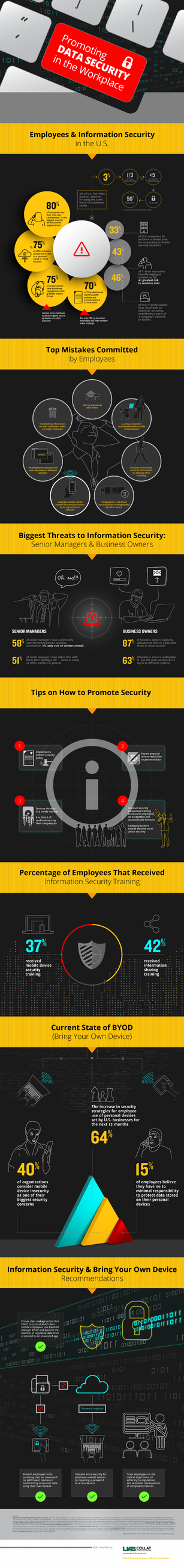 Infographic: Data Security in the Workplace by leilapearse