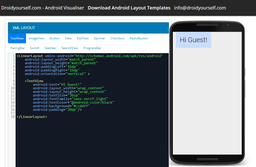 Screenshot 4Android Layout Editor Online by Droidyourself on DeviantArt
