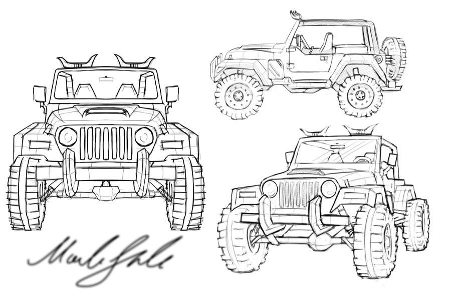 jeep bocetaje by themaxico90 on deviantart