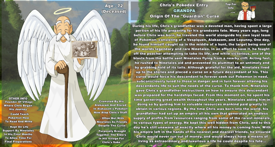 TOTGM - Grandpa Character Bio by The-Guardian-Master