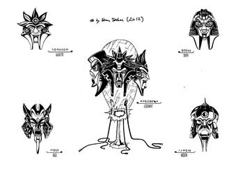 Five Faces Of Darkness /Quintessons/ by arts-by-starsaber