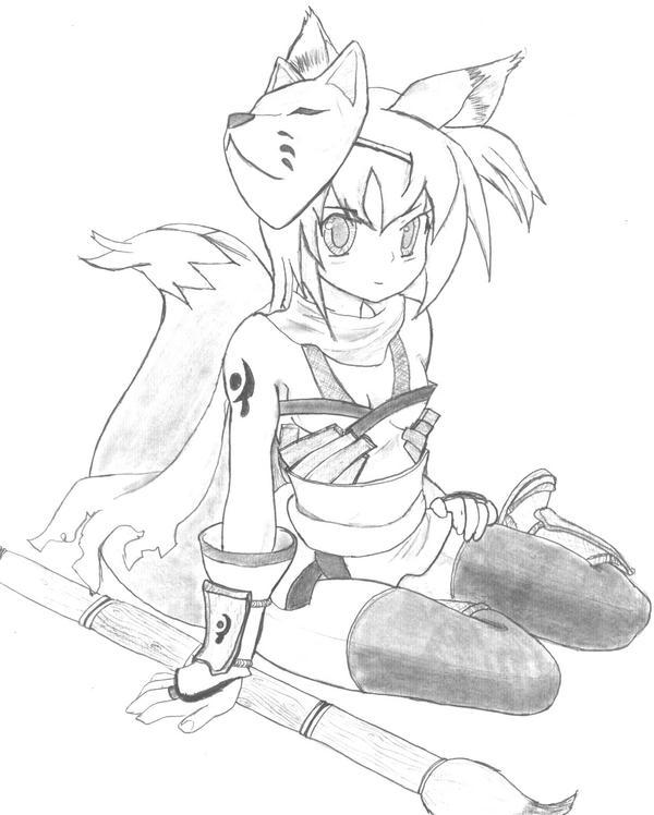 God Brush Kitsune by Clan-Clan