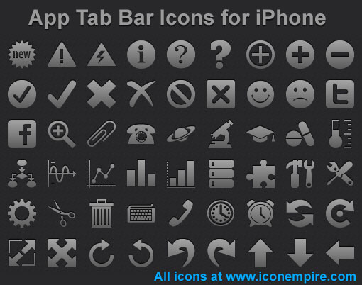 App Tab Bar Icons for iPhone by mikeconnor7