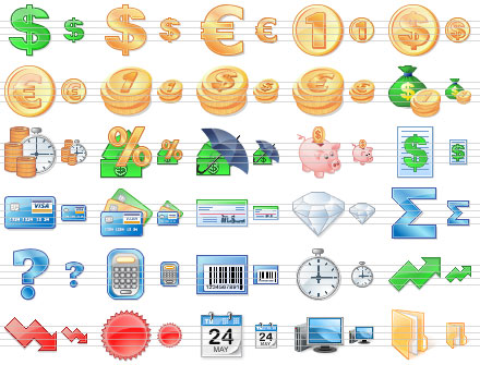 Business Toolbar Icons by mikeconnor7