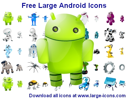 Free Large Android Icons by mikeconnor7