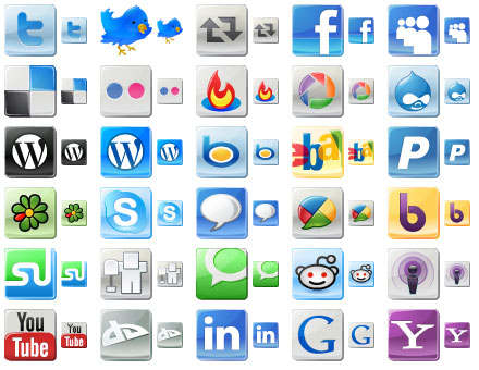 Free Social Media Icons by mikeconnor7