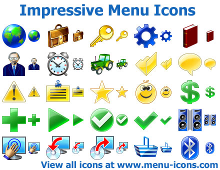Impressive Menu Icons by mikeconnor7
