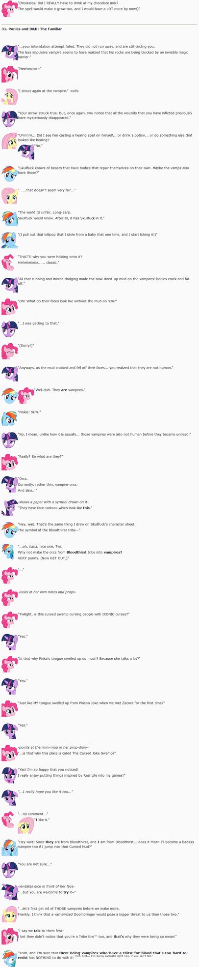 31. Ponies and DnD: The Familiar by dziadek1990