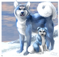 The blue bear dogs by LittleVulpine