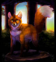 The Fox In The Forest by LittleVulpine