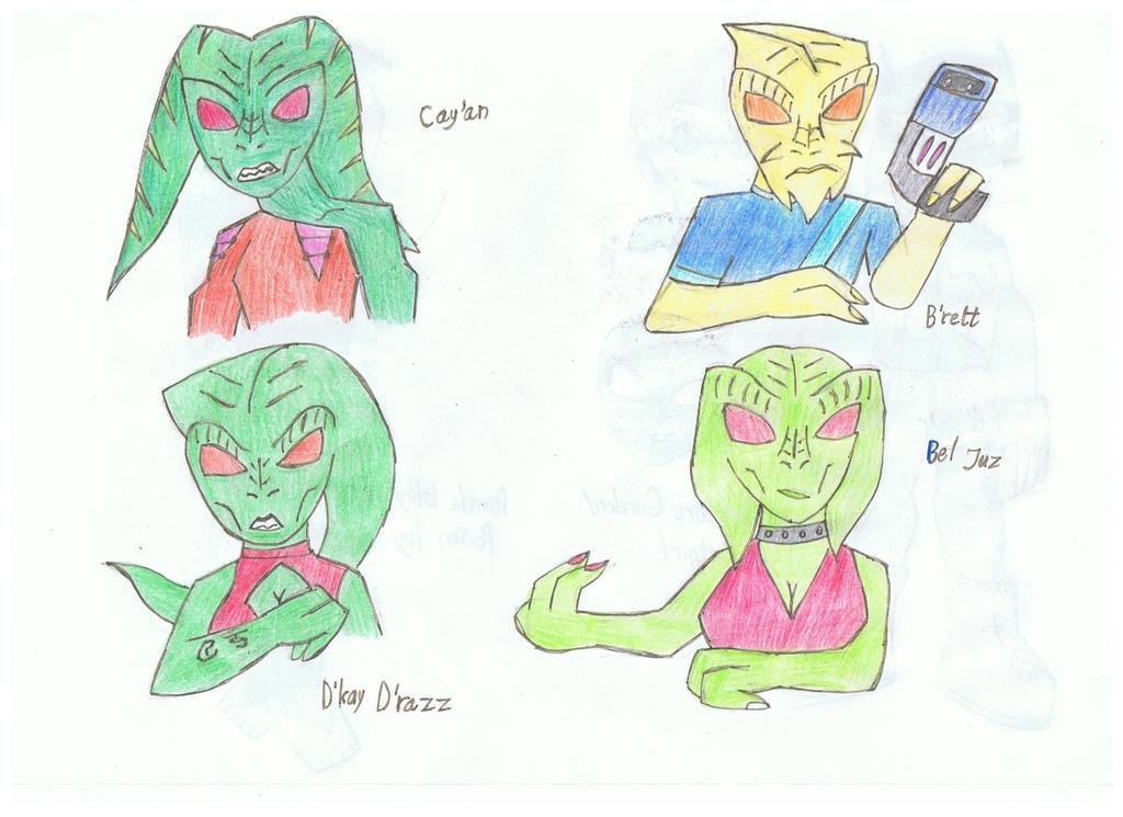 Martian Manhunter enemies 1: Evil martians by KivaHoloTitan