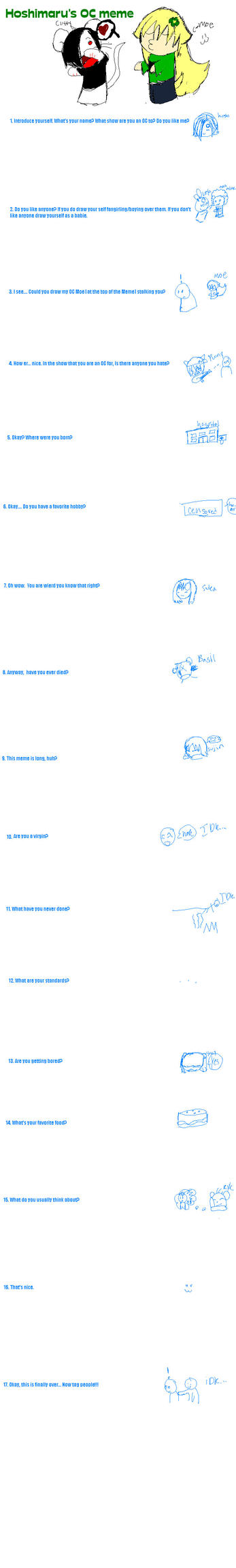 OC Meme by HoshimaruOfTheMist