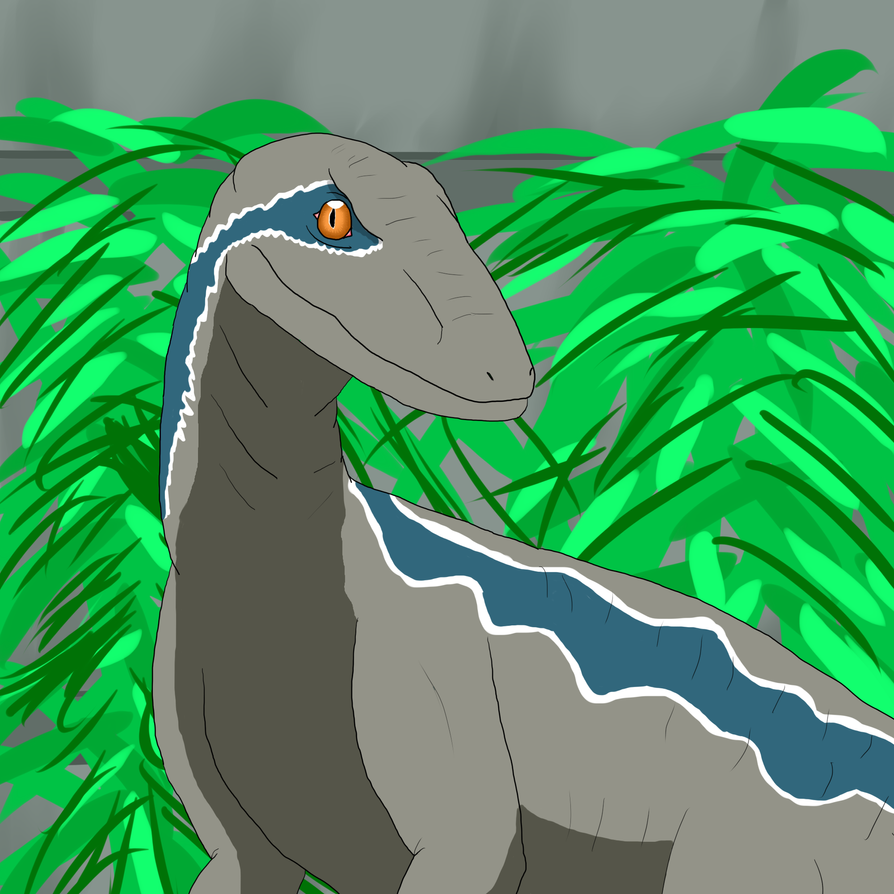 FA: Blue the Velociraptor by MafiaRaptor12