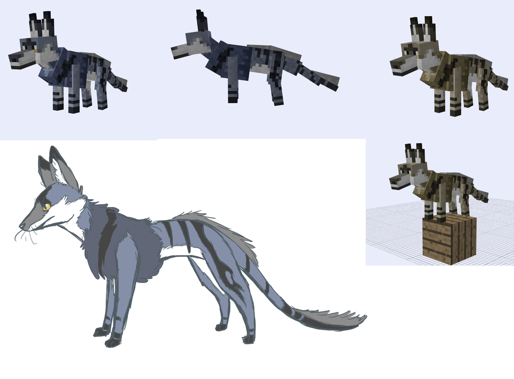 minecraft model methyr Wolf Wolf Minecraft Skin