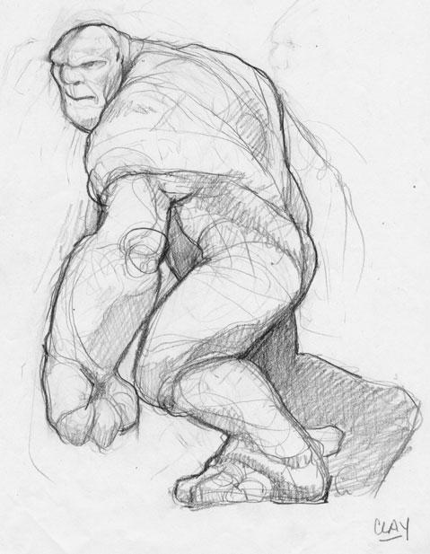 Nacho's Fullbring Ability Clay_the_Golem___sketch_by_B_Dub33