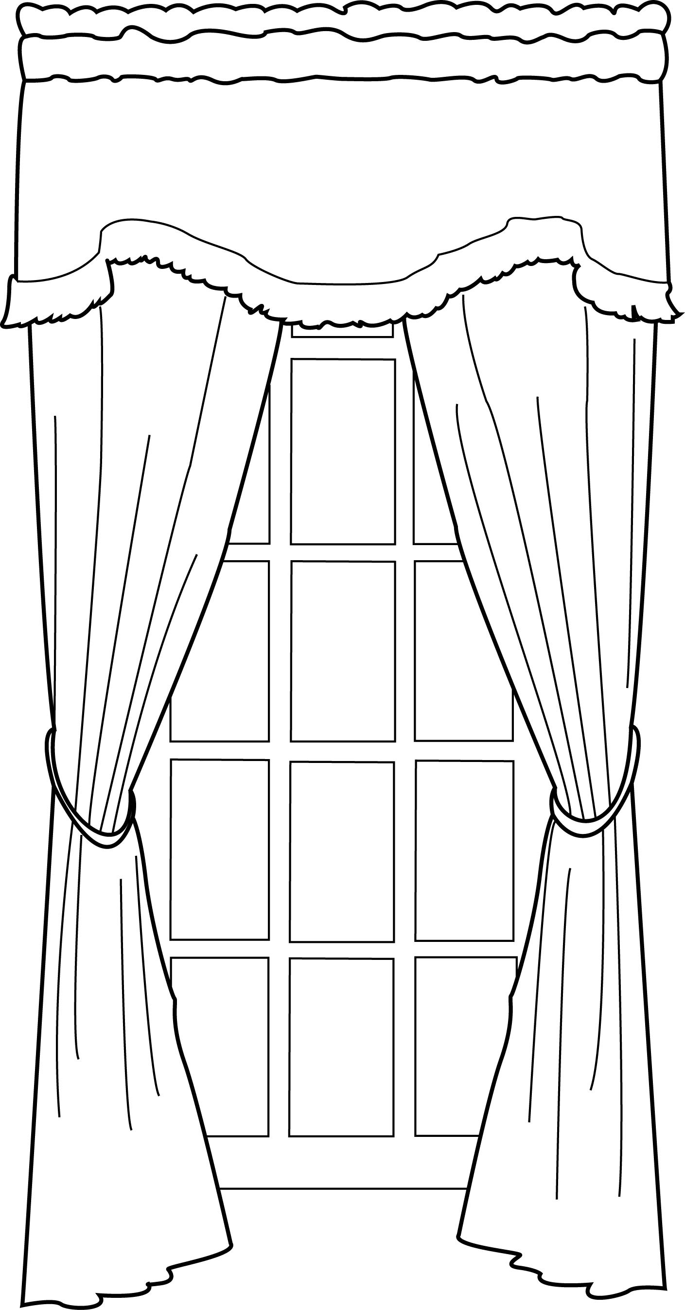 картинка как нарисовать шторы месть