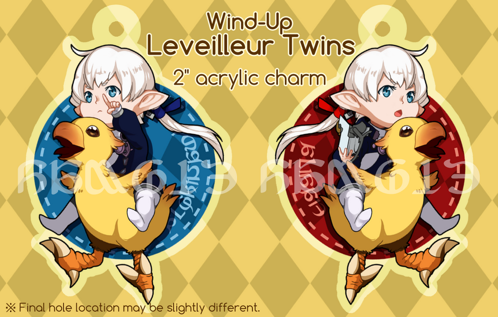 [For Sale] Wind-Up Leveilleur Twins Charm by homophones