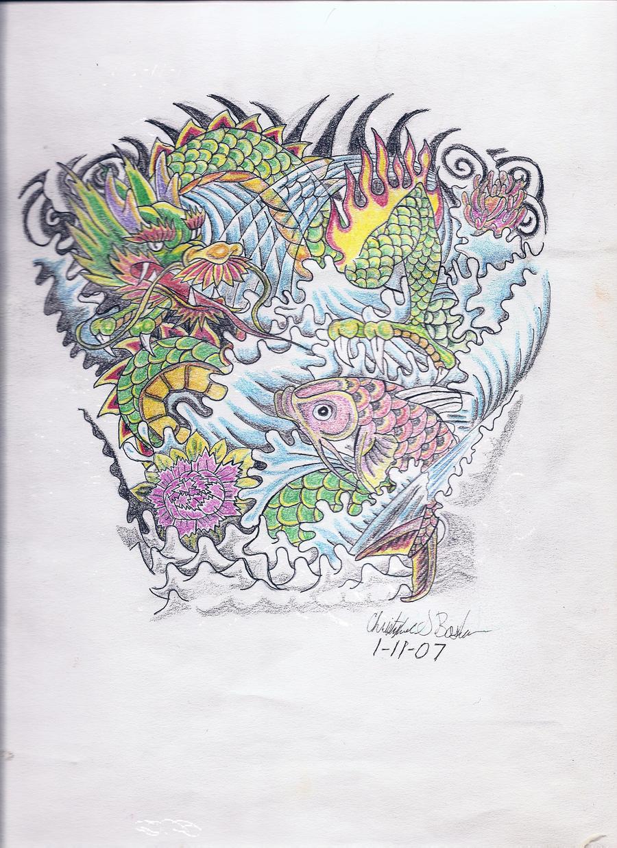 Japanese tattoo design by punksk8ere21 on DeviantArt
