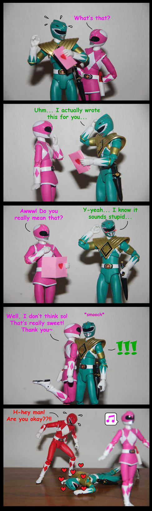 Pink Crush ft. Green Ranger by spongejan