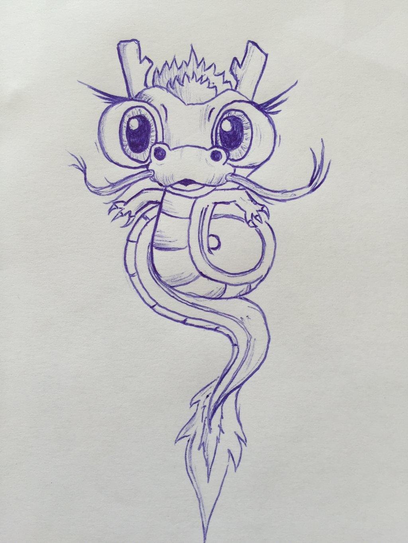 tiny little cute dragon ball shenlong by amos845 on deviantart