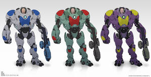 Crusher color variations