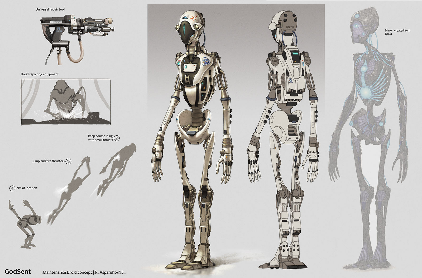 Maintenance droid concept by NikolayAsparuhov