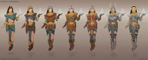 Diablo 2 Fan-remake - Sorceress armor concepts