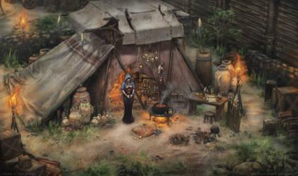 Akara's Shop Concept - Diablo II Fan Remake by NikolayAsparuhov