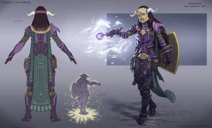 Sorceress Tal Rasha's Armor Set Concept by NikolayAsparuhov