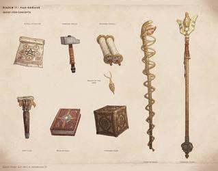 Quest item concepts - Diablo II Fan Remake by NikolayAsparuhov