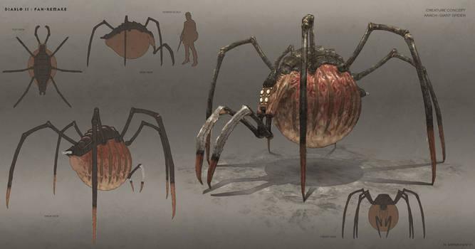 Arach Giant Spider - Diablo II Fan Remake