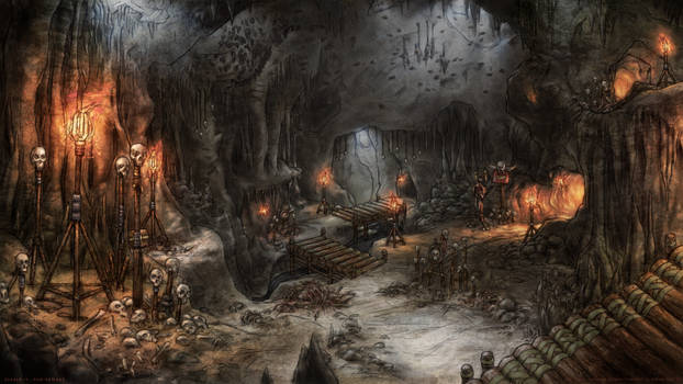 Cave environment concept - Diablo II Fan Remake