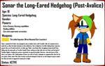Sonar the Long-Eared Hedgehog (Post-FDWM Design) by MasterPerryMartin