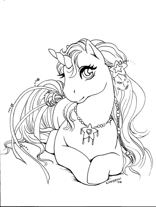 Line Art Unicorn : Unicorn line art by qwaychou on deviantart
