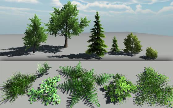 Lowpoly plants