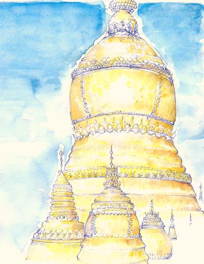 Myanmar sketch by GrumpyDragon