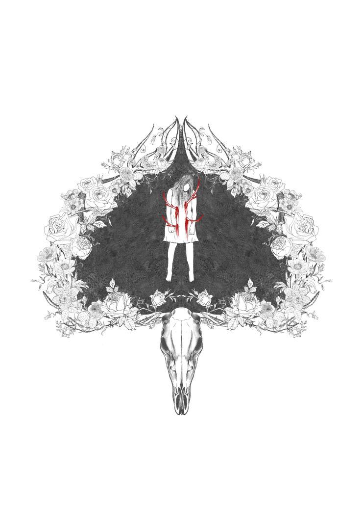 deer and flowers by youyanwuzhu