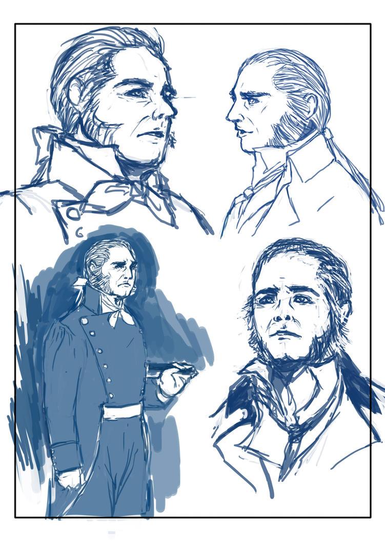 Javert Doodle by youyanwuzhu