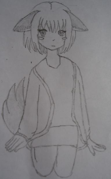Kitsune Girl by RainbowZebra99