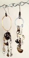 Steampunk Earrings by darkangelpixie