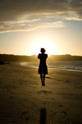 Jump sunset