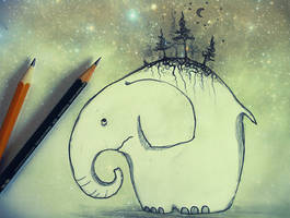 .. the little elefant .. by FlyPi