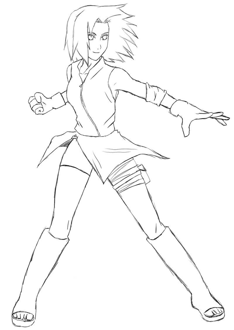 Sakura - Fighting Stance by Nashy87Anime Sword Fighting Stance